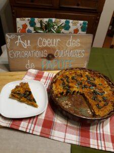 Tarte salée sans gluten aux carottes et lardons